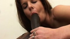 Filthy MILF wants to feel every inch of this enormous black pole